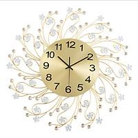 Đồng hồ treo tường trang trí họa tiết Hoa Kim Cương C500