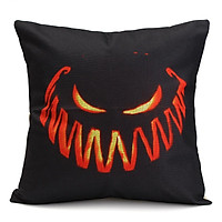 Halloween Cotton Linen Cushion Case Pillow Cover Pumpkin Printed 45X45cm Pillowcase
