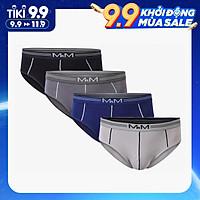 Combo 4 quần lót nam tam giác Bamboo Organic mềm mịn thoáng mát thấm hút mồ hôi - MRM Manlywear - Màu Ngẫu Nhiên