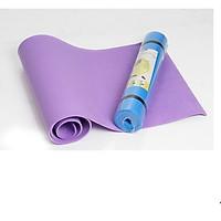 Thảm Tập Yoga PVC 173x61x0,5 Cm Tặng Kèm Túi Đựng Hàng Cao Cấp - Giao màu ngẫu nhiên