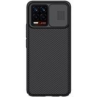 Ốp lưng PC vân sần không bám vân tay, có lắp bảo vệ cụm camera cho Oppo Realme 8, Realme 8 Pro - Nillkin Camshield Case Hàng nhập khẩu