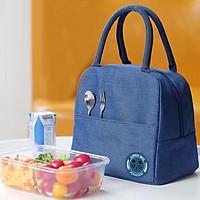 Túi giữ nhiệt trơn một màu, túi giữ nóng lạnh nhiều giờ, túi có lớp tráng bạc bên trong dễ vệ sinh