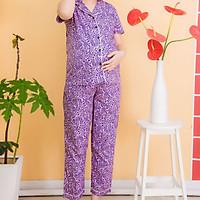 Bộ bầu pyjama kate tay ngắn quần dài Emum