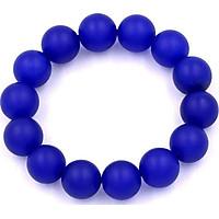 Vòng chuỗi đeo tay thạch anh xanh dương mờ 14 ly - Chuỗi hạt đeo tay đá phong thủy