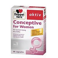 Thực Phẩm Chức Năng DoppelHerz Conceptive for Women: Tăng Cường Khả Năng Sinh Sản ở Nữ Giới (30 viên)