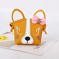 Túi đeo chéo cho bé gái hình mặt cún đáng yêu – TX018