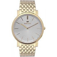 Đồng hồ NEOS N-40577M dây thép vàng (nam)