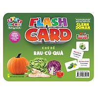Flash card Theo phương pháp giáo dục sớm của Glenn Doman – Thẻ học thông minh (song ngữ Anh Việt) - Chủ đề: Rau củ quả