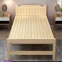 Giường ngủ gỗ thông tặng nệm , giường gỗ gấp, giường gấp gọn