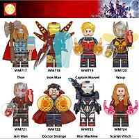 Minifigures Mô Hình Siêu Anh Hùng Thor Iron Man Captain War Machine Siêu Đẹp WM6063