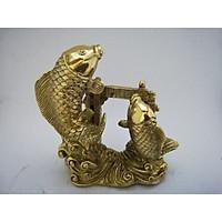 Tượng Cá Chép Vượt Vũ Môn nhỏ bằng đồng