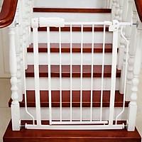 Thanh chặn, chắn cửa, cầu thang, bằng thép sơn tĩnh điện, không cần khoan đục, có chốt khóa đảm bảo an toàn cho bé