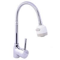 Vòi rửa chén nóng lạnh Eurolife EL-T005 (Trắng bạc)