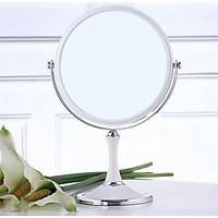Gương Để Bàn Trang Điểm, Makeup, Làm Tóc 2 Mặt To Đường Kính 20cm