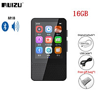 Ruizu M18 Mini MP3 Player Bluetooth 5.0 Music Player 16GB 32GB Portable 2.4Inch Touch Screen Audip Player Walkman With Built-in Speaker E-book Pedometer Recording Support Memory Card