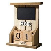 Lịch gỗ bảng đen Home để bàn