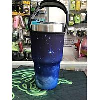 Túi xách cho ly giữ nhiệt 900ml galaxy xanh