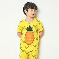 Bộ đồ ngắn tay mặc nhà cotton mịn cho bé trai U3031 - Unifriend Hàn Quốc, Cotton Organic