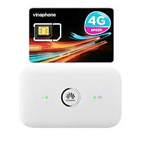 Router wifi 4G Huawei E5573 LTE 150Mbps + Sim 4G Viaphone trọn Gói 12 Tháng   5.5GB/Tháng - Hàng Chính Hãng