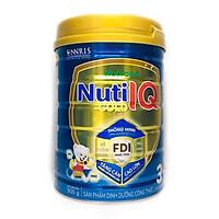 Sữa Nuti IQ Gold 3 900g (mới) - Phát triển não bộ và thị giác, Tăng cường sức đề kháng, Phát triển cân nặng - chiều cao, Tiêu hoá - hấp thu tốt, Ngăn ngừa táo bón