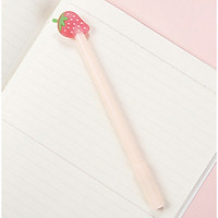 Bút Bi Viết Dâu Tây Siêu Dễ Thương - Bút Bi Nước Văn Phòng Mực Đen ( phát màu ngẫu nhiên )