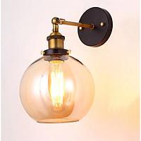 Đèn gắn tường trang trí kiểu công nghiệp thủy tinh hình cầu VT03B