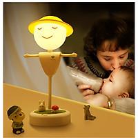 Đèn led hình người mũ vàng - Tặng kèm 2 đèn led cắm USB