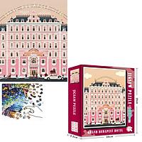 Bộ Tranh Ghép Xếp Hình 1000 Pcs Jigsaw Puzzle (Tranh ghép 70*50cm) Khách Sạn Màu Hồng Bản Thú Vị Cao Cấp