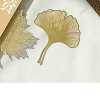 Bookmark kim loại ánh vàng - Cây bạch quả
