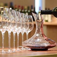 Bộ 6 ly rượu vang 590 ml và bình chiết vang 1500 ml ( Châu Âu )