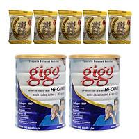 Combo 2 hộp Sữa bột Gigo HI-CANXI 900g – Giải pháp ngừa loãng xương và tiểu đường cho người trưởng thành – Tặng 05 bánh quy dừa Nhật Bản hiệu Aee