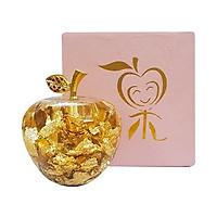 Tượng vảy vàng 24k quả táo để bàn  - ANCARAT