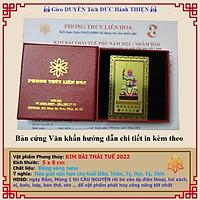 Thái Tuế năm 2022 - Kim Bài Thái Tuế Nhâm Dần năm 2022 - hóa giải vận hạn tuổi Dần, Thân, Tỵ, Hợi, Tý, Thìn