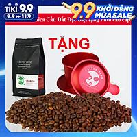 Cà phê bột Arabica Cầu Đất 500g nguyên chất 100% thơm nồng, vị nhẹ, gu tây TẶNG Phin Nhôm Pha Cà Phê Màu Đỏ Cao Cấp