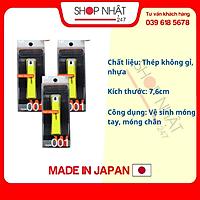 Combo Bấm móng tay thân nhựa KAI cỡ trung màu xanh lá nội địa Nhật Bản