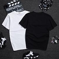 Áo thun nam unisex logo 2 đôi giày siêu chất chất vải mặc hè thoáng mát AT24