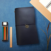 Sổ da Midori Travel Notebook - Da Bò Đen (Chưa có ruột sổ)