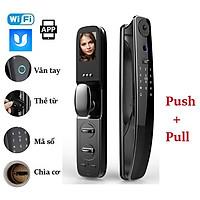 Khóa cửa vân tay Push Pull thông minh cao cấp kết nối WIFI