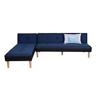Trọn Bộ  Sofa Góc L (Sofa Giường + Sofa Thư Giãn) BizSofa Bed MLF-291 - Xanh Dương