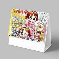 (Lịch 2021-2022) Lịch in NHÓC MIKO anime manga Cô Bé Nhí Nhảnh ảnh đẹp lịch để bàn