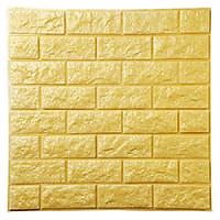 Xốp dán tường 3D Vân đá Vàng Loại dày KT 77X70