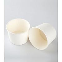 Tô giấy - hộp giấy - tô giấy đựng thức ăn mang đi  - tô giấy đựng thức ăn nhanh - màu trắng - 390ml