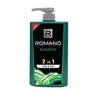Tắm gội 2 trong 1 Romano Classic cổ điển lịch lãm phiên bản Deluxe nhanh chóng tiện dụng 650gr