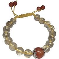 Vòng Đá Mala Thạch Anh Tóc Vàng Mix Mã Não Đỏ Ngọc Quý Gemstones TA011