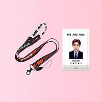 Combo dây đeo thẻ EXO và card cứng XIUMIN EXO