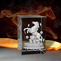 Tượng 3D Con Ngựa (Ngọ) Trong Bộ 12 con giáp - Trang Trí Xe Ô tô/ Bàn Làm Việc