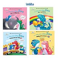Sách Học Tiếng Anh Cùng Jino - Bộ 4 cuốn cho bé 3-8 tuổi