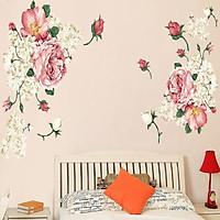 Decal dán tường hoa trang trí lãng mạn sang trọng
