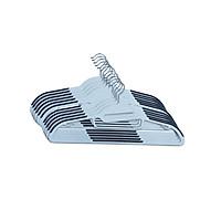 Bộ 10 móc áo JYSK Tonni nhựa màu xám trắng 41.5x23x0.6cm