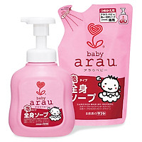 Combo sữa tắm gội toàn thân Arau Baby 450ml (Mua chai tặng túi)